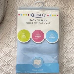 New Graco fitted sheet pack N play blue